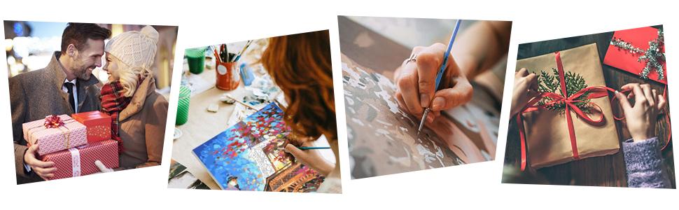 40x50cm Bougimal Peinture par Num/éro Adulte avec Pinceaux et Acryliques Bricolage Peintures Kits pour Adultes Enfants Seniors D/ébutant pour la D/écoration Int/érieure Maison avec Cadre