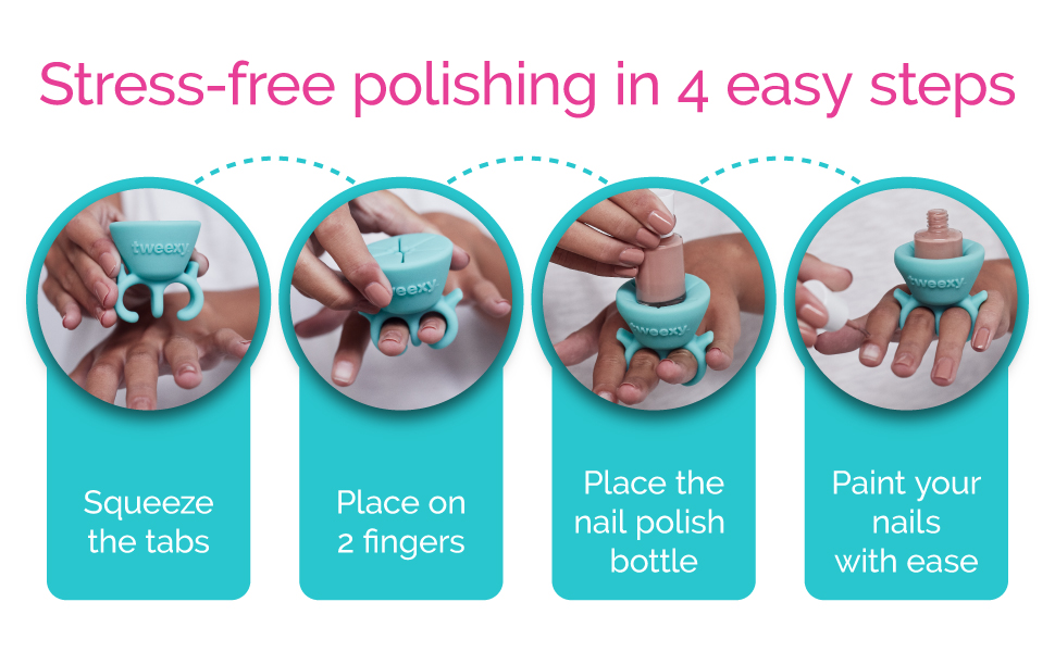 nail polish gift accessory fingernail polish holder steps for polishing