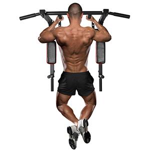ONETWOFIT Barra de dominadas multifuncional montada en la pared, estación de inmersión para entrenamiento de gimnasio en el hogar, equipo de ...