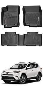 oEdRo Floor Mats Compatible for 2013-2018 Toyota RAV4