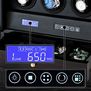Watch winder control panel
