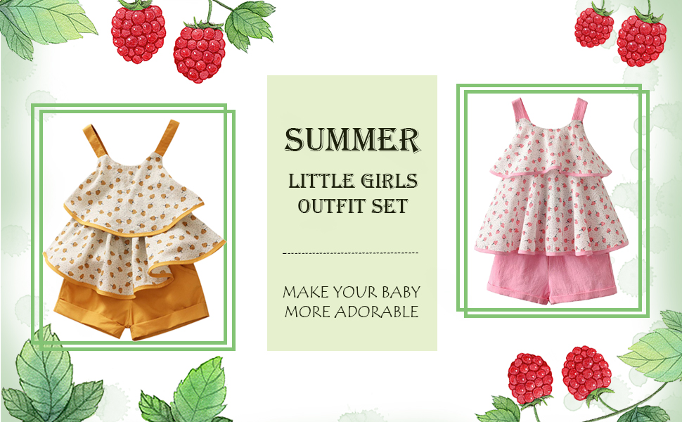 MetCuento Little Girls Outfits Summer Holiday Sunflower Pattern Vest Tops Shorts Clothes Set