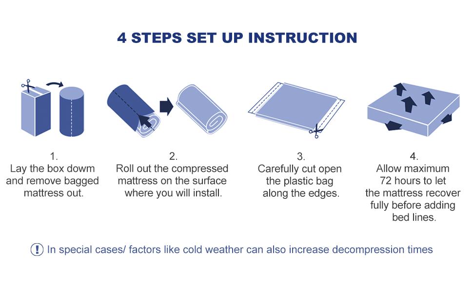 queen mattress in a box 6 twin mattress