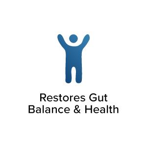 Restores Gut Balance & Health