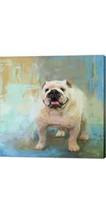 White English Bulldog by Jai Johnson