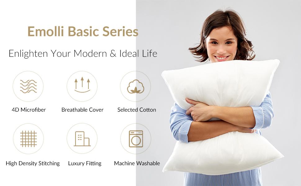 emolli throw pillow insert decorative inserto almohadas