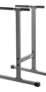 Dip station with angled uprights