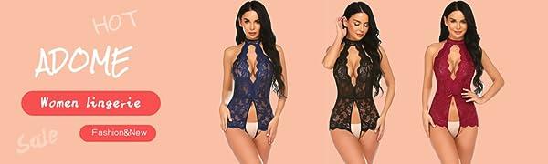 lace lingerie sexy babydoll teddy sleepwear for women for sex bodysuit valentines day lingerie women