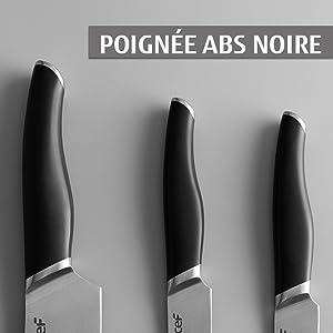 Poignée ABS noire