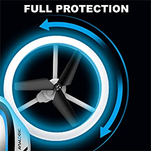 drones with full propeller protection