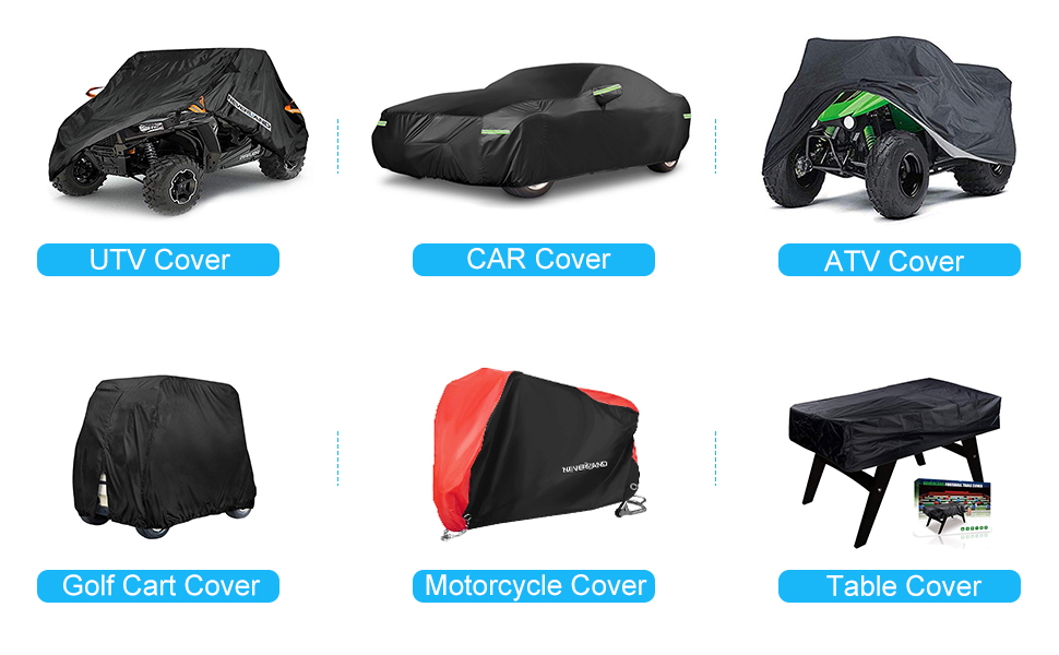 114 x 59 x 74.8 inches Universal Fit 4 Wheeler Vehicle Cover Favoto UTV Cover with 4 Night Reflective Stripes and Carrying Bag Waterproof Oxford Dust Sun Wind Rain Leaves Outdoor Protection