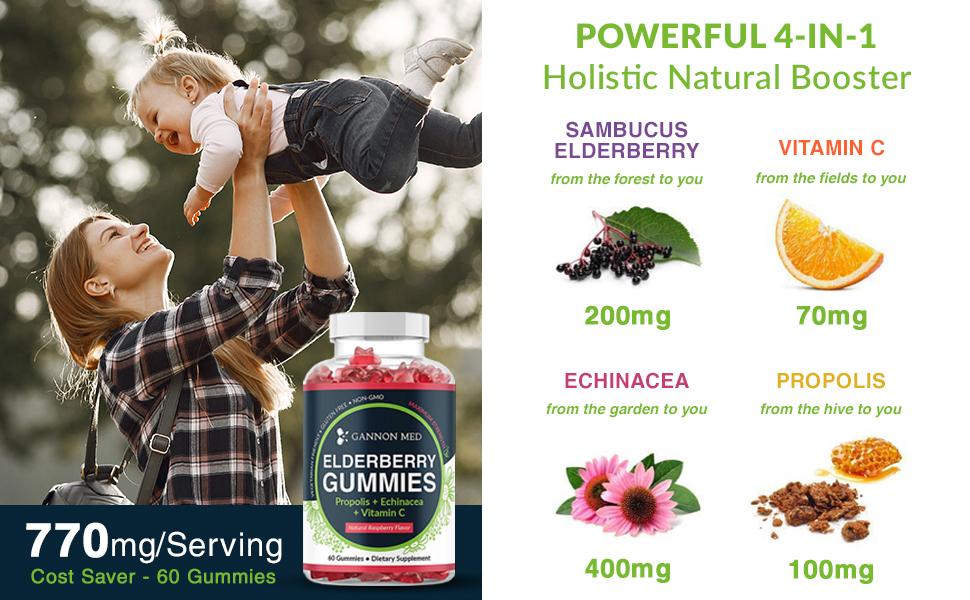 elerberry elberry organic longes sambucus immunity chewable viramin gummie supplements