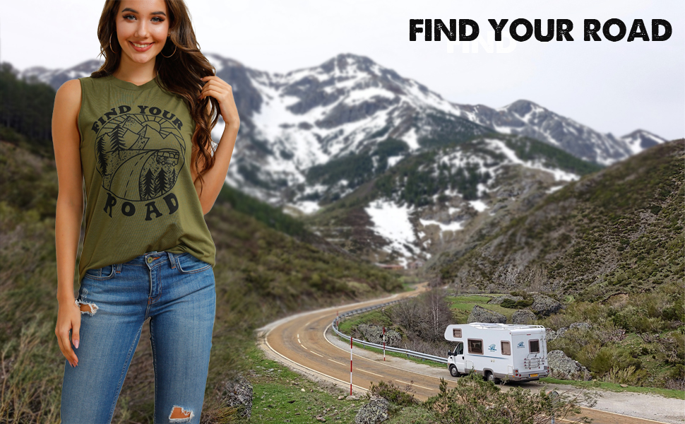 find your road tank top