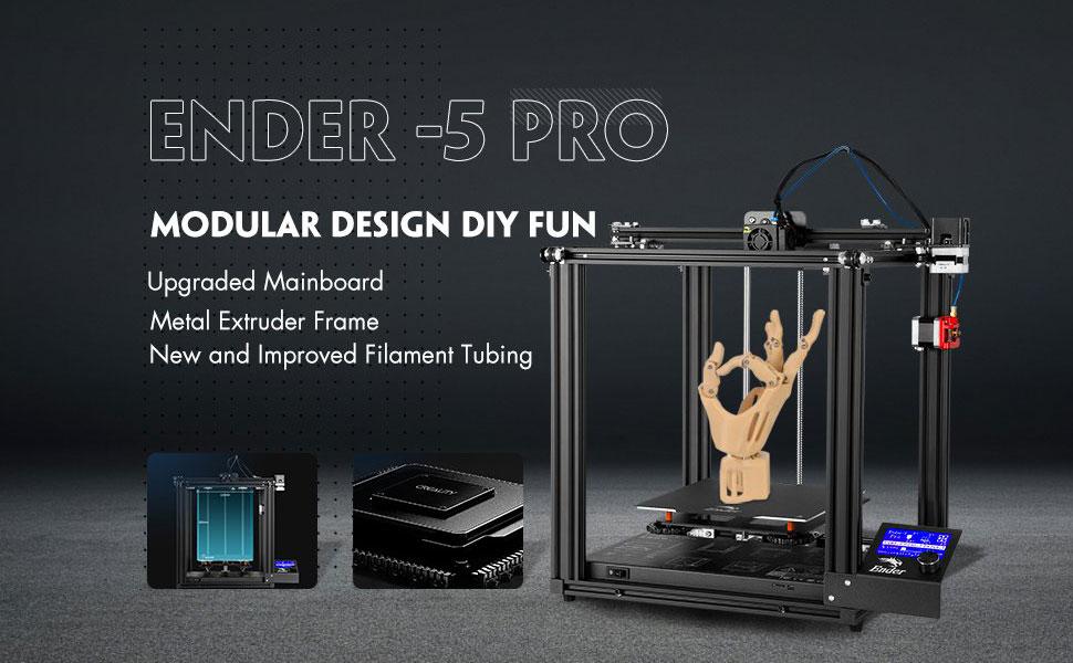 tubo de PTFE Capricornio nueva Ender-5 mejorada con placa base silenciosa m/áquina de extrusi/ón de metal Impresora 3D Creality Ender-5 Pro