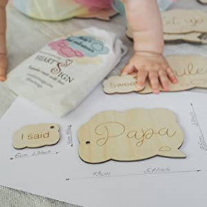 Newborn Life Events Milestones Cards | Baby Monthly Weekly amp; Occassions Wood Discs Gift Set  Newborn
