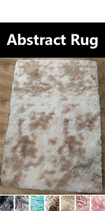 beige and white rug