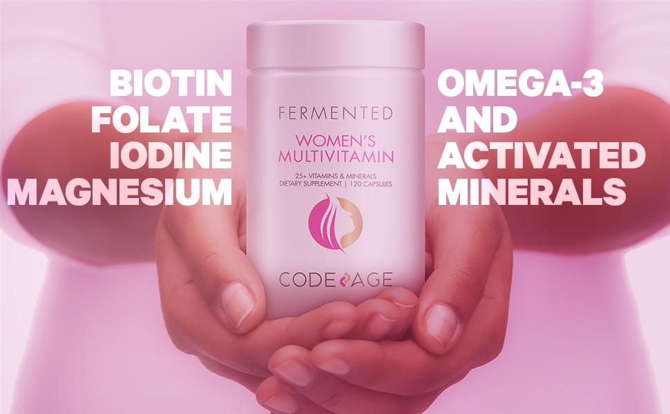 Codeage - Women's Fermented Multivitamin - Vitamin A, B, C, D, E, K