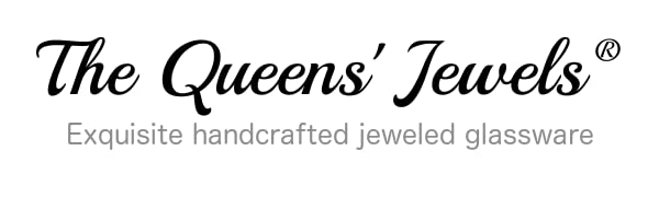 The Queens' Jewels - Jeweled Wine Glasses Logo