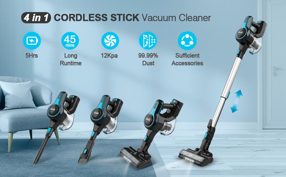4 in 1 cordless stick vacuum cleaner