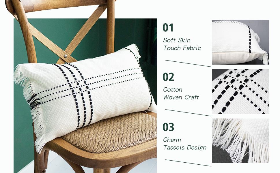 rectangle pillow cover farmhouse pillow cover boho pillows decorative throw pillows