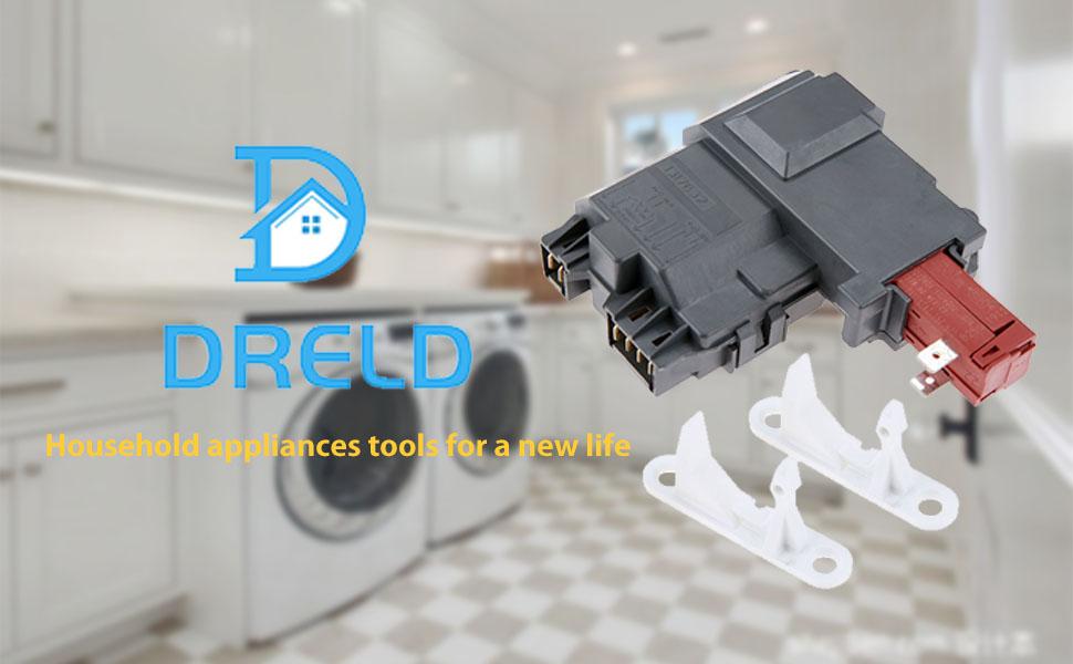 Compatible with 131763202 Door Lock Switch /& 131763310 Door Strike 131763202 Washer Door Latch /& 131763310 Door Striker Replacement for Kenmore//Sears 41744152400 Washing Machine