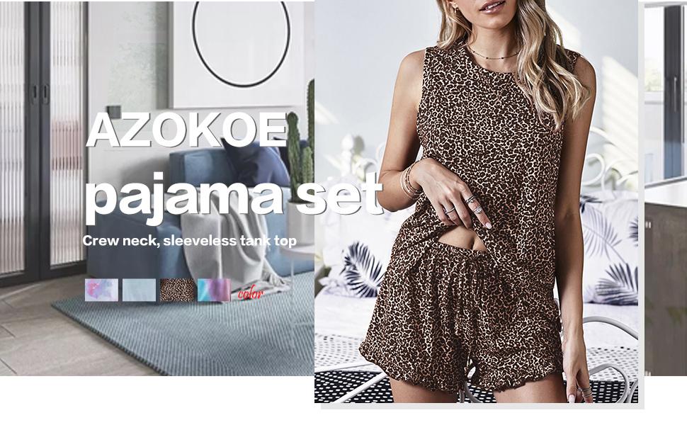 Azokoe Women Ruffle Shorts Pajama Set Short Sleeve V Neck Sleepwear Nightwear Pj Set