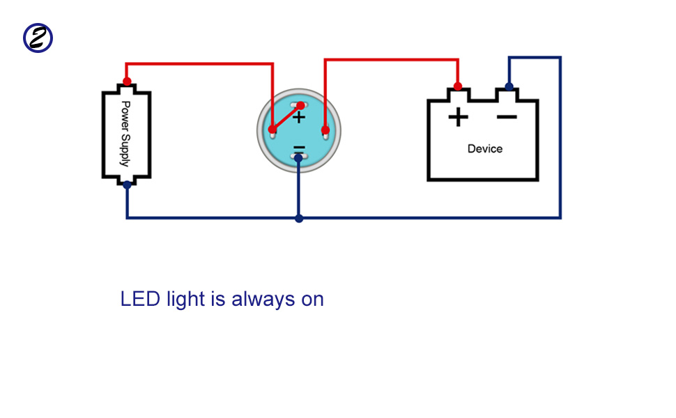 [DIAGRAM_5NL]  Amazon.com: Linkstyle 5Pcs DC 12V/24V Metal Latching Push Button Switch, 4  Pin Car RV Truck Boat SPDT ON/OFF Switch, Waterproof Self-Locking Round  Marine Switch with Blue LED Light for 12mm 1/2