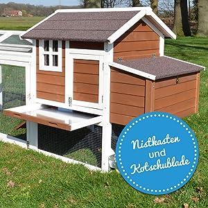 Hühnervoliere superhenne stall für hühner mit vielen Türen