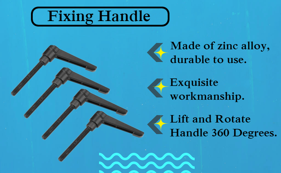 Zinc Handle Adjustable Clamping Lever with Stud