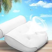 ultra comfy bath head neck shoulder support pillow