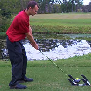 Master your swing with the Slot It Golf Swing Training Aid for Irons, Woods and Driver