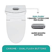 Water saver toilet
