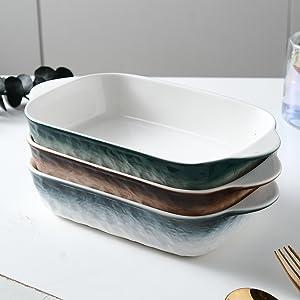 Mixing color baking dish