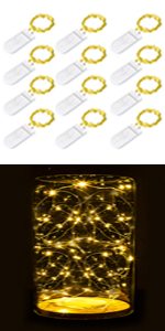 12 Pack Fairy String Lights