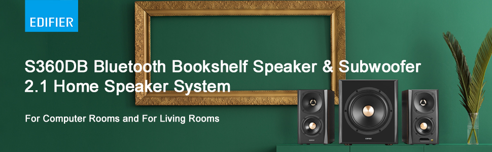 Bookshelf Speaker and Subwoofer 2.1 Speaker System Bluetooth v4.1 aptX Wireless Sound