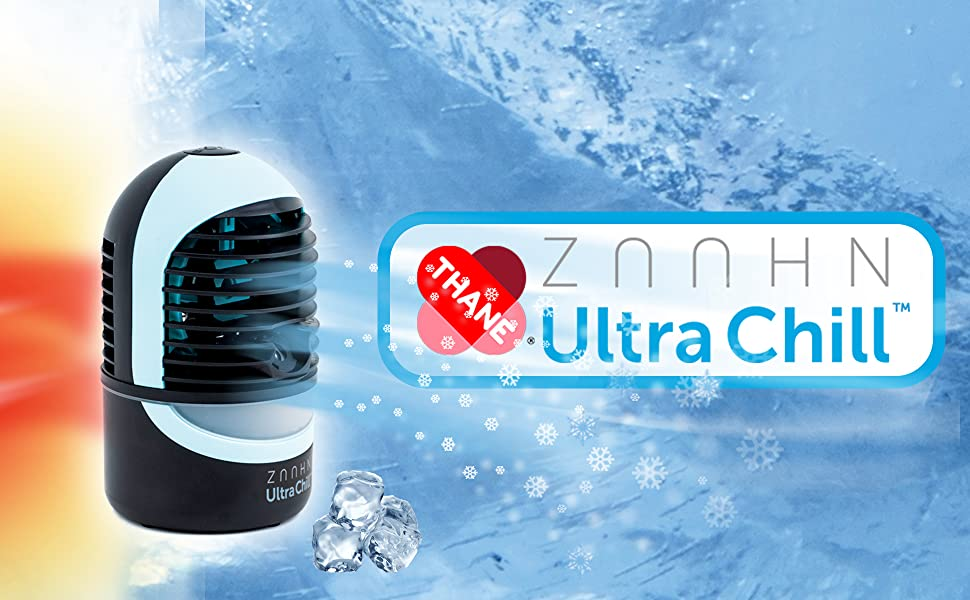 ZAAHN Ultra Chill Personal Cooler and Humidifier | Compact and Portable | No Filter Needed, Easy to Maintain | Quiet 4 Speed Fan | Lasts Up to