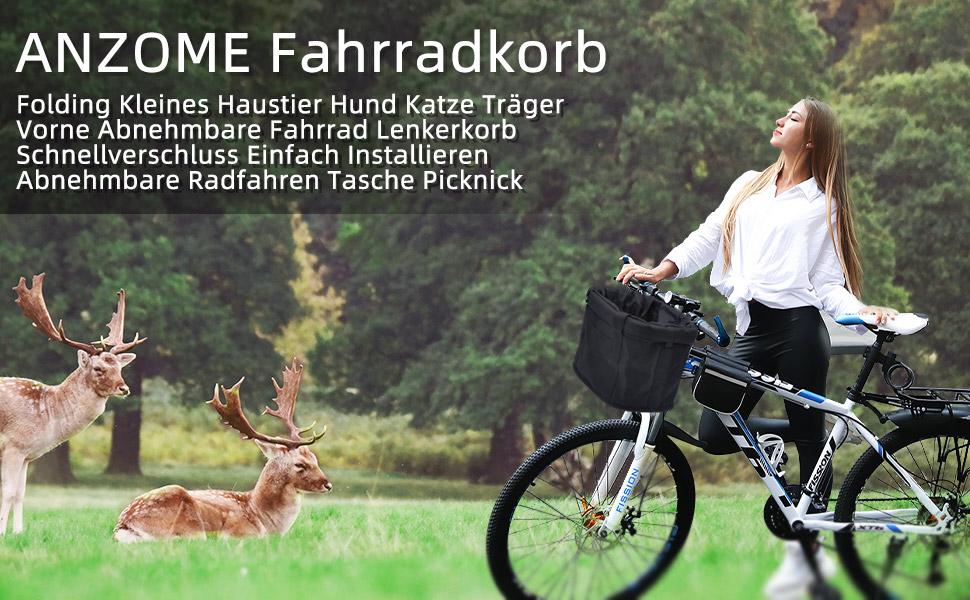 ANZOME Vorne Abnehmbar Hundefahrradkorb