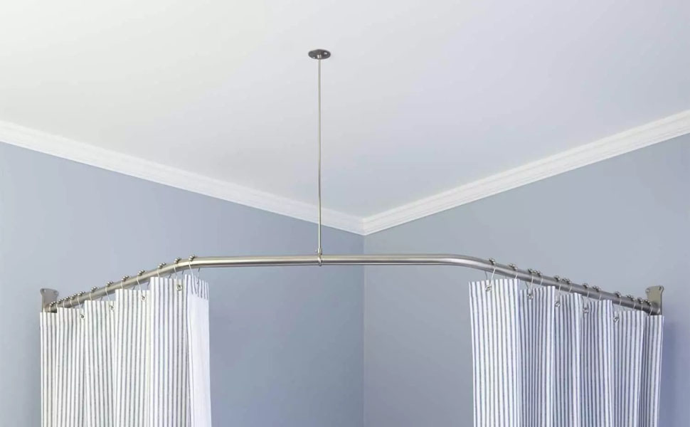 Naiture Stainless Steel//Aluminum Curved Shower Curtain Rod