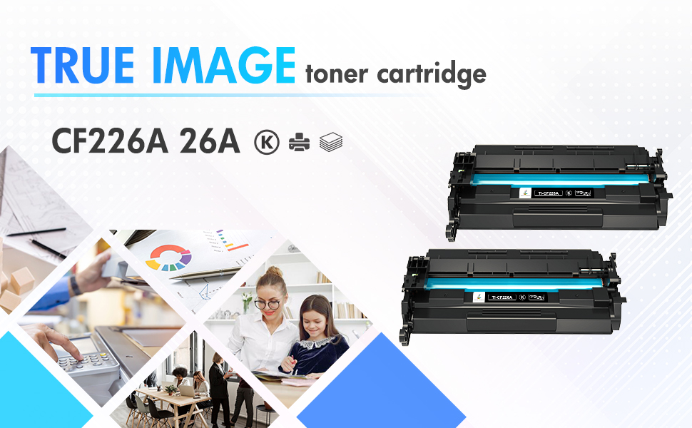 Toner Eagle Toner Refill Kits Compatible with HP Pro M402 MFP M426 CF226A 26A with Chips. Black, 25-Packs