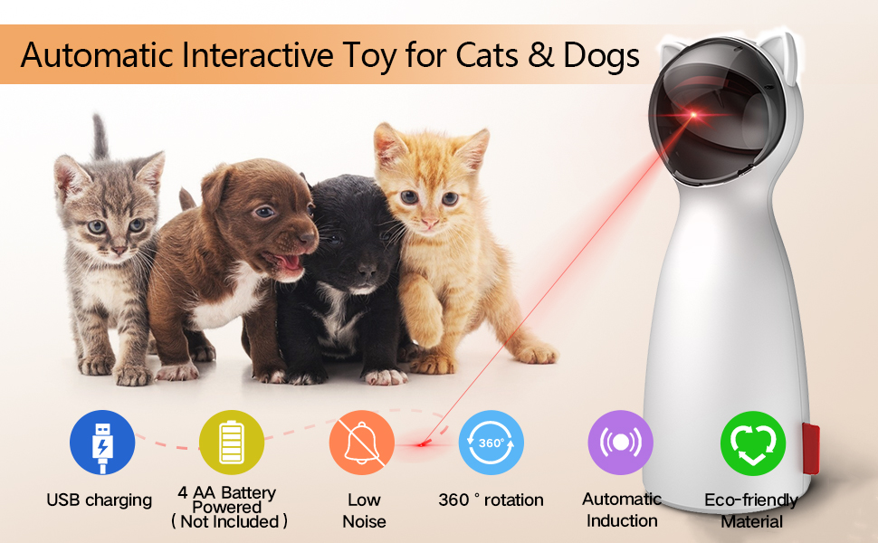 Automatic Interactive Toy for Cats & Dogs