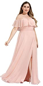 Plus size chiffon wedding dress pregnant dress maternity party gowns causal dress beach dress long