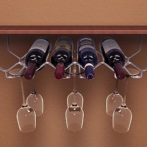 Sorbus Wine Bottle Stemware Glass Rack,