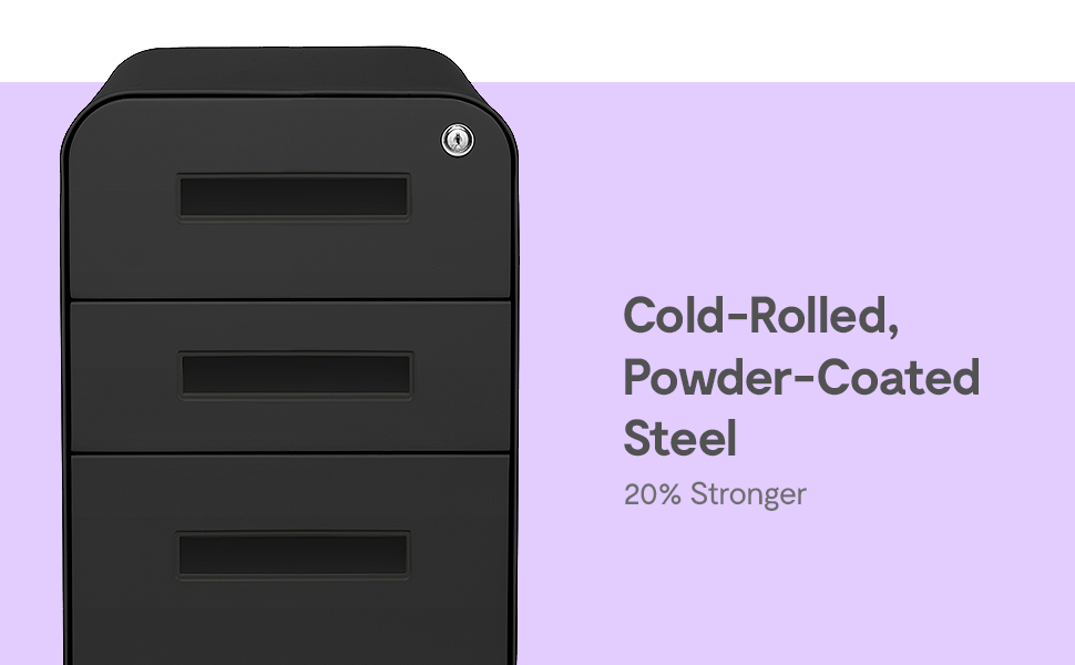 Cold-Rolled, Powder-Coated Steel