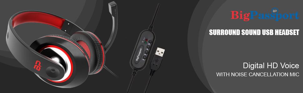 usb gaming headphone headset