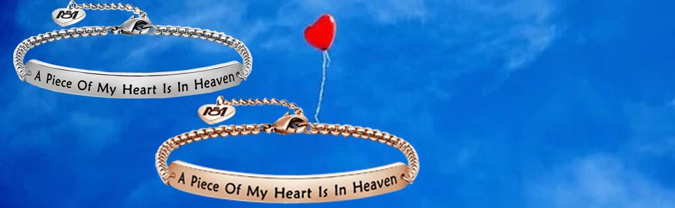 A Piece of My Heart Is In Heaven bracelet