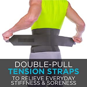 double pull tension straps relieve everyday stiffness and soreness