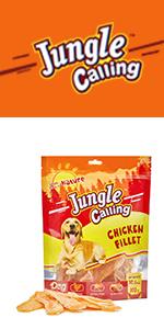 Jungle Calling Snacks para Perros, Pechuga Enterna de Pollo ...