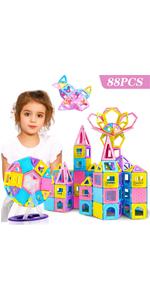 88PCS Magnetic Castle Building Blocks Tiles