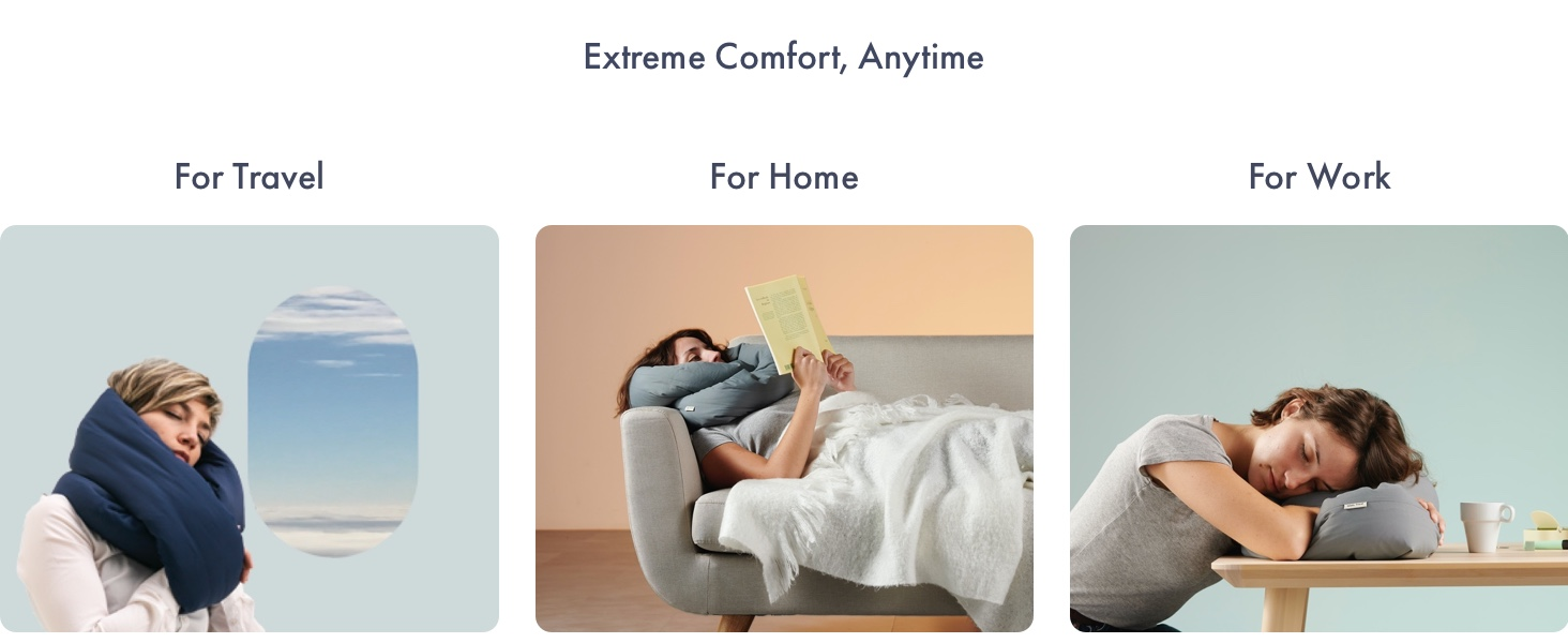 pillow sleep home sofa cozy nap work from home cushion anywhere rest