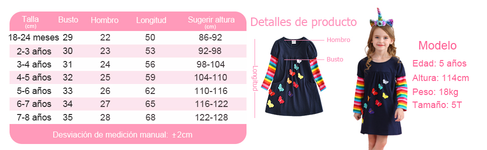 Vestido vikita para niñas vestido 2020 falda de algodón puro manga larga para niños
